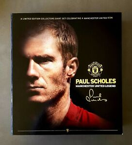 Paul Scholes Manchester United Limited Edition Commemorative Shirt Set
