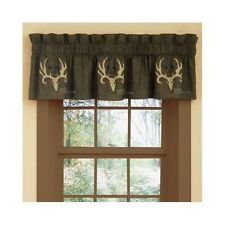 Bone Collector Window Valance Curtain Rustic Antler Cabin Hunting Decor Gift New