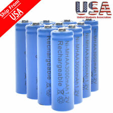 20 AA Rechargeable Batteries NiMH 3000mAh 1.2v Garden Solar Ni-MH Light LED USA