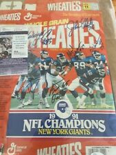 1991 Super Bowl Giant Wheaties Cereal Box-Signed by players JSA Authenticated