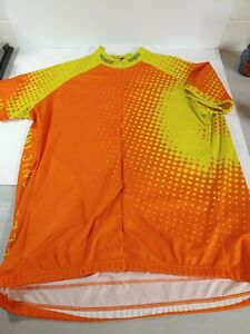 Cycling Jersey by Verge short Sleeve Yellow & Orange -- Men's 3xl royal spinners
