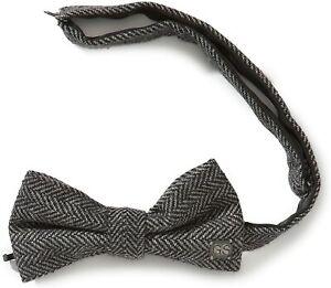 G-STAR McGINLEY BOW TIE, Tweed Herringbone, Black