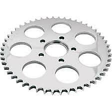 Harley Rear Sprocket 49 Tooth Flat Chrome. Suit Sportster 1986-Up. Custom Use.