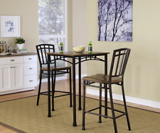 Tall Kitchen Table Set With Chairs Dining Pub Height Small Bistro Space Saver Br