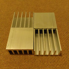 1 inch Heat Sink Aluminum (1 x 1 x 0.5) inches. Low Thermal Resistance. 4 qty