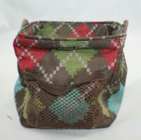 Thirty One Gift Mini Tote Utility Multi color Diamond 31 Gifts Retired