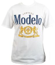 Modelo Shirt Cerveza Especial Beer Lion Crest Logo White Mens Size M-3XL