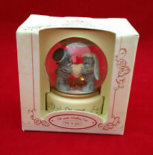 ME TO YOU BEAR TATTY TEDDY ON YOUR WEDDING DAY WATERGLOBE - WATER GLOBE GIFT