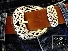 Kelten Gürtelschließe Celtic Cross Dornschließe Silber Schnalle Buckle NEU 4 cm