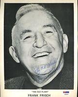 Frankie Frisch Psa/dna Signed 8x10 Photo Autograph Authentic