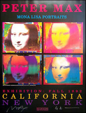 "Peter Max ""Mona Lisa"" HAND SIGNED by P.MAX poster Make an Offer!!!!!"