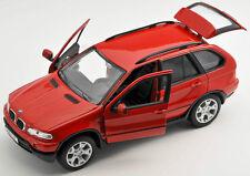 Spedizione LAMPO BMW x5/X 5 ROSSO/RED Welly Modello Auto 1:24 NUOVO & OVP