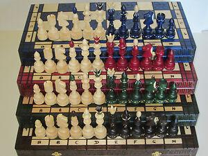 Sehr edles großes Schach Schachspiel Schachbrett 54 x 54 cm Holz Indian indisch