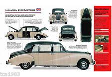 Armstrong Siddeley STAR SAPPHIRE SPEC SHEET / Brochure: 1958,1959,1960