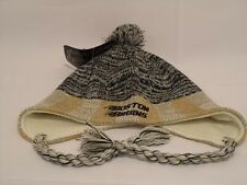 Reebox Boston Bruins Tassel Pom  Ear Flap  Knit Beanie Hat Brand New