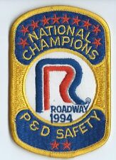 Roadway Express 1994 National champions P&D drivers patch 4-1/4/X2-3/4 inch