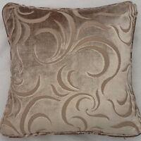 A 16 Inch Cushion Cover In Laura Ashley Ellison Sable Velvet Fabric