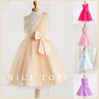 Christmas Gold Wedding Flowers Girls Party Dresses SIZE 2T 3T 4T 5 ...