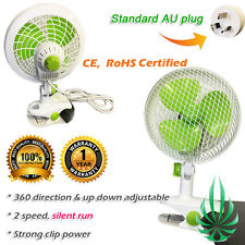 160mm Clip Fan 2 Speed Student Fan Grow Tent Desk Clamp High Quality Quiet Run