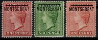 P130654/ BRITISH MONTSERRAT / SG # 1x – 2 – 6 MINT MH CV 223 $