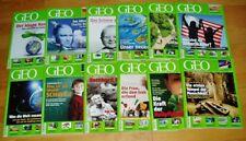 GEO Zeitschrift 2008 komplett Bild der Erde Jahrgang 12 Hefte Sammlung Natur