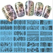 Nail Art Water Transfers Stickers Decals Flowers Lace Bows Floral Stamping