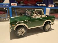 """1970 FORD BRONCO """"BUSTER"""" GREEN 1/18 Scale DIECAST By GREENLIGHT 19084 —NEW—"""