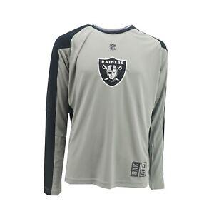 Oakland Raiders Official NFL Dri Tek Kids Youth Size Long Sleeve Athletic Shirt