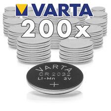 200x Original Varta CR2032 Lithium Knopfzelle Batterie Lose 3V/230 mAh,200 Stück