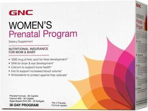 GNC Women's Prenatal Program, 30 Packs, Supports Healthy Development for...