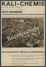 Heyl-Beringer Farbenfabrik Chemie Luftbild Werk Berlin-Charlottenburg Spree 1930