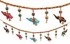 Handmade Multicolor Elephant Door Hanging String Festive Diwali Decoration 85 cm