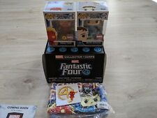 MARVEL FANTASTIC FOUR COLLECTOR CORPS BOX Exclusive Pops  M