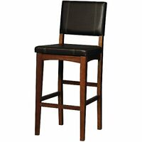 Modern Armless Bar Stool Kitchen Chair Contemporary Home Indoor Cushioned Seat
