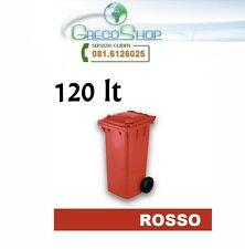 Cassonetto/Pattumiera/Bidone per raccolta rifiuti uso esterno 120lt rosso
