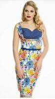 Summer Dress Lindy Bop Vintage Style Vanessa Floral Print vintage - Sz 10  BNWT