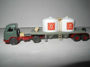 WIKING MODEL1:87 CHEMICAL TANKER TRUCK PULLMAN WM # 752/2A &B EXCELLENT 1964-66