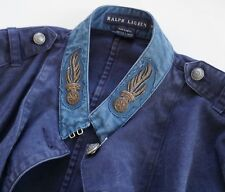 NWT RALPH LAUREN BLUE LABEL Denim MILITARY ARMY Jacket Blazer US-14 M