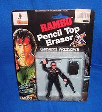 Arco 1986 Rambo Sylvester Stallone Pencil Top Eraser MOC