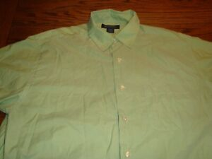 Brooks Brothers Light Green Men's Short Sleeve Button Down Shirt - Size L