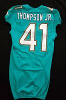 #41 Cedric Thompson Jr. of Dolphins NFL Locker Room Issued Jersey w50th Patch