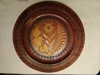 Vintage Engraved Ornate Wooden Wall Plate