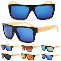 Vintage Retro Women Mens Bamboo Wooden Wood Sunglasses Glasses Shades Eyewear