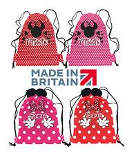 Personalised Minnie Inspired Drawstring Bag Ears School PE Swimming Girls Dance