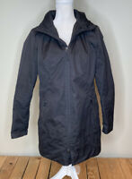 The north face Women's Full zip Quilted Hooded coat Parka Jacket Size M Black