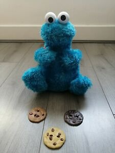Sesame Street Count 'n' Crunch Cookie Monster With Backpack & 3 Cookies 2010