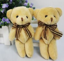 Gift Cute Soft Plush Stuffed Mini Brown Ribbon Teddy Bear Toys Doll for Bouquet