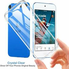 For For iPod Touch 7 7th Case Crystal Clear Gel Phone Glass Screen Protector