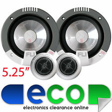 "Fli COMP 5 225 Watts 5.25"" 13cm Front or Rear Door Car Van Component Speakers"