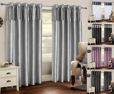 Paris Crushed Crush Velvet Stripe Curtains  Eyelet Ring Top Lined Faux Silk